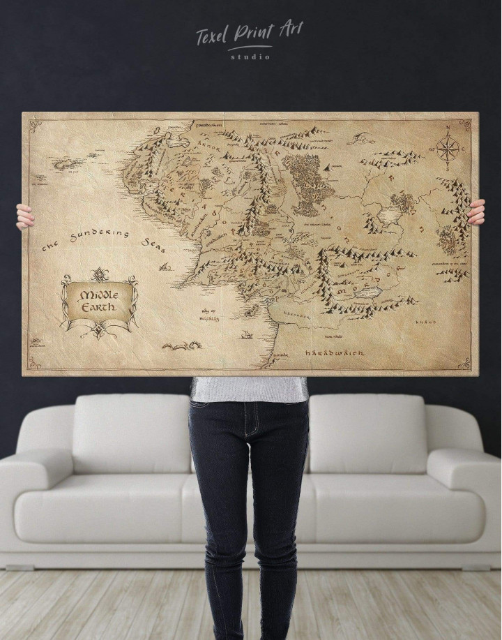 Middle Earth Map Canvas Wall Art - Image 2