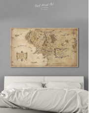 Middle Earth Map Canvas Wall Art - Image 0