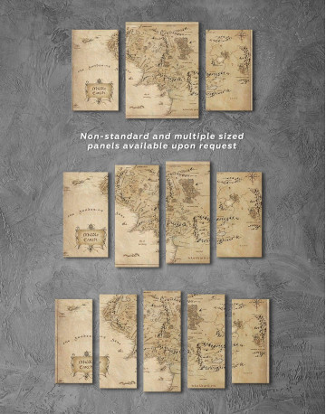 Middle Earth Map Canvas Wall Art - image 5