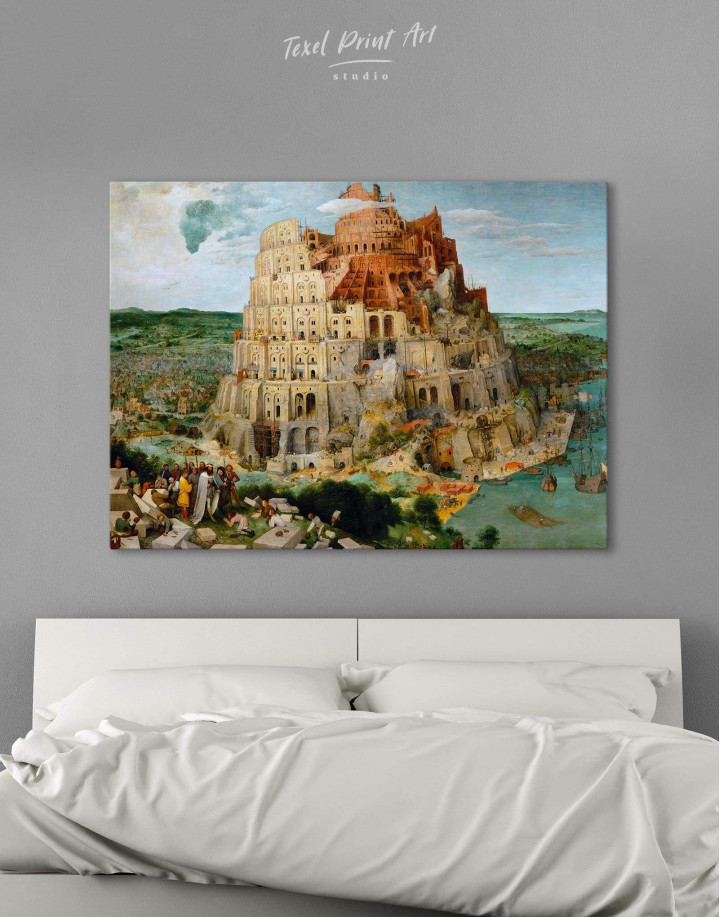 The Tower of Babel by Bruegel Canvas Wall Art - Image 3