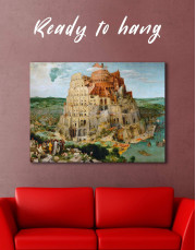 The Tower of Babel by Bruegel Canvas Wall Art - Image 0