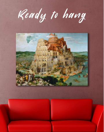 The Tower of Babel by Bruegel Canvas Wall Art