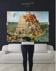 The Tower of Babel by Bruegel Canvas Wall Art - Image 2