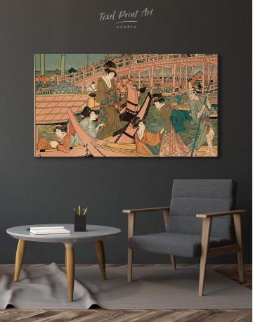 Ukiyo-e Tokugawa Japanese Canvas Wall Art - image 4