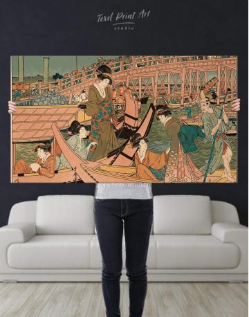 Ukiyo-e Tokugawa Japanese Canvas Wall Art - image 3