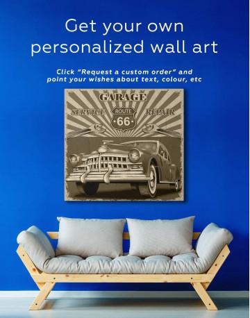 Garage 66 Canvas Wall Art - image 1