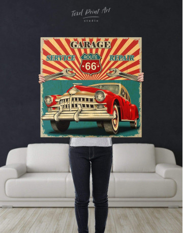 Garage 66 Canvas Wall Art - image 2