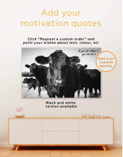Cows Animal Canvas Wall Art - Image 6