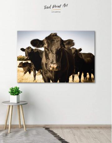 Cows Animal Canvas Wall Art