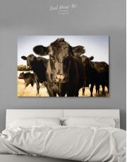 Cows Animal Canvas Wall Art - Image 1