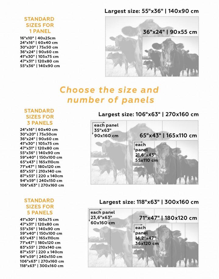 Cows Animal Canvas Wall Art - Image 4