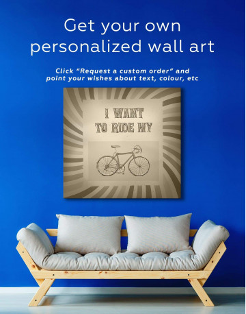Bicycle Canvas Wall Art - image 1