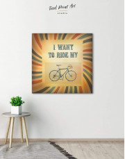 Bicycle Canvas Wall Art - Image 3