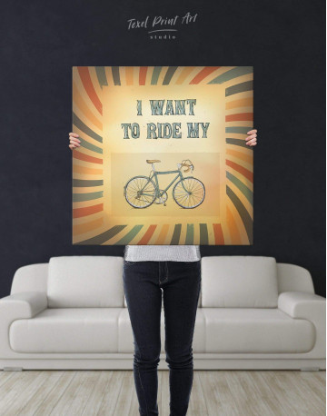 Bicycle Canvas Wall Art - image 2
