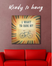 Bicycle Canvas Wall Art - Image 0