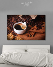 Cup of Coffee Canvas Wall Art - Image 0