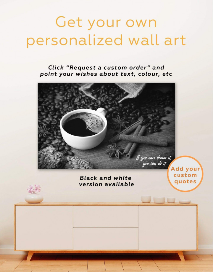 Cup of Coffee Canvas Wall Art - Image 1