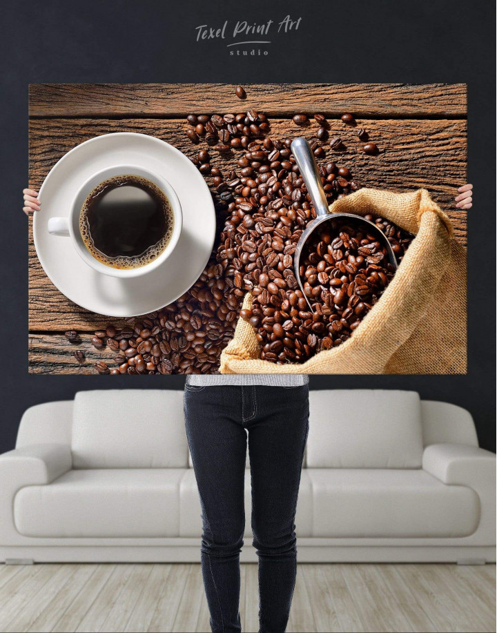 Aroma Coffee Canvas Wall Art - Image 2