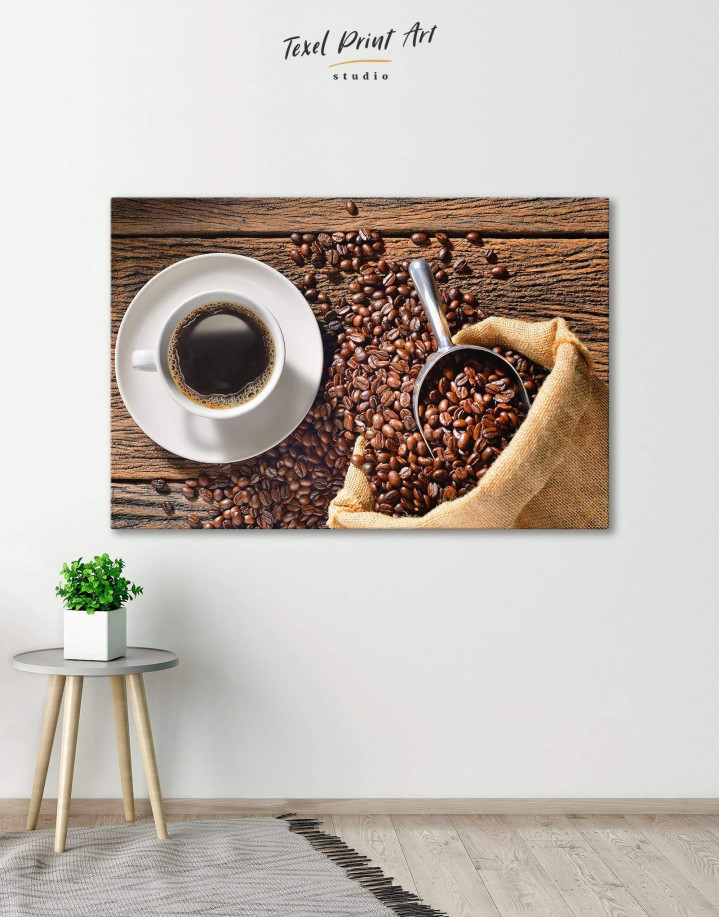 Aroma Coffee Canvas Wall Art - Image 1