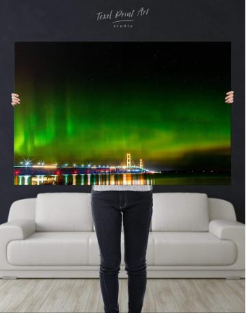 Green Northern Lights Canvas Wall Art - image 5