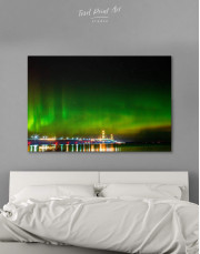 Green Northern Lights Canvas Wall Art - Image 6