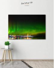 Green Northern Lights Canvas Wall Art - Image 0