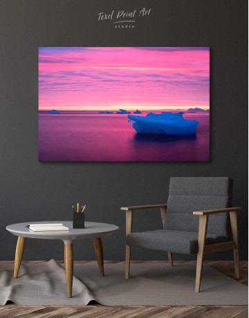 Ice on Water Canvas Wall Art