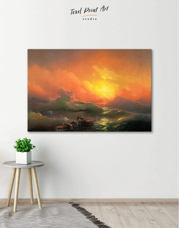 Aivazovsky The Ninth Wave  Canvas Wall Art - Image 6