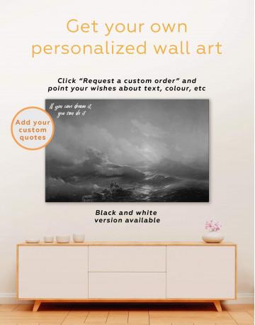Aivazovsky The Ninth Wave Canvas Wall Art - image 1
