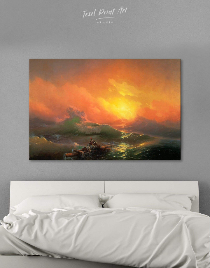 Aivazovsky The Ninth Wave  Canvas Wall Art - Image 0