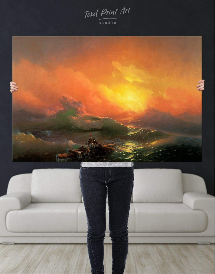 Aivazovsky The Ninth Wave  Canvas Wall Art - Image 5