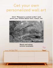 Japanese Garden Canvas Wall Art - Image 1