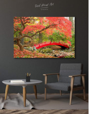 Japanese Garden Canvas Wall Art - Image 0