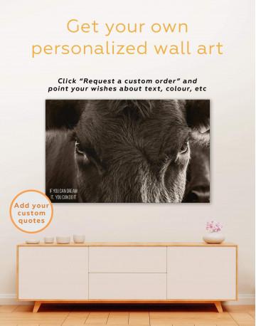 Cow Head Canvas Wall Art - image 5