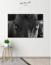 Cow Head Canvas Wall Art - Image 0