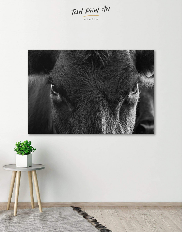 Cow Head Canvas Wall Art - Image 0