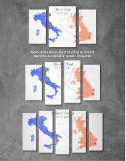 Long Distance Relationships Map Canvas Wall Art - Image 2