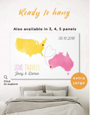 Love Travels Canvas Wall Art - Image 0