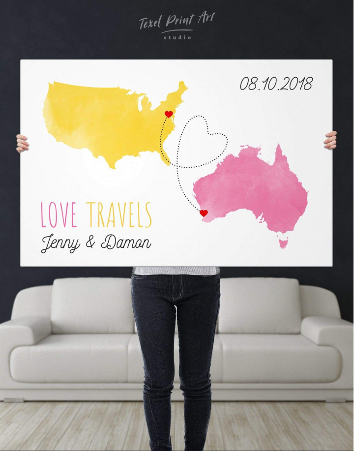 Love Travels Canvas Wall Art - Image 2