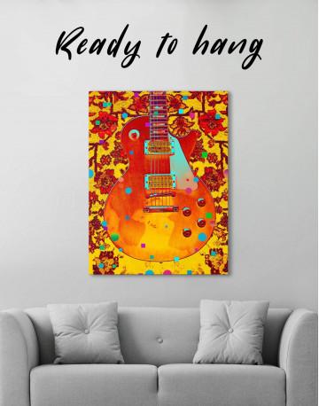 Music Guitar Canvas Wall Art