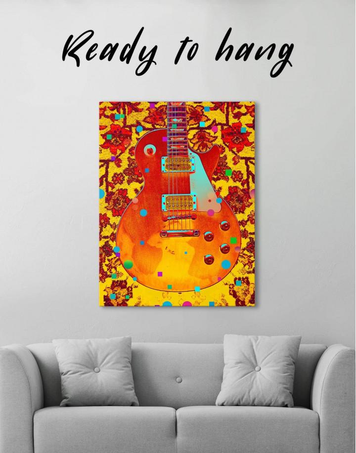 Music Guitar Canvas Wall Art - Image 0