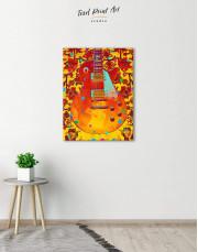 Music Guitar Canvas Wall Art - Image 1