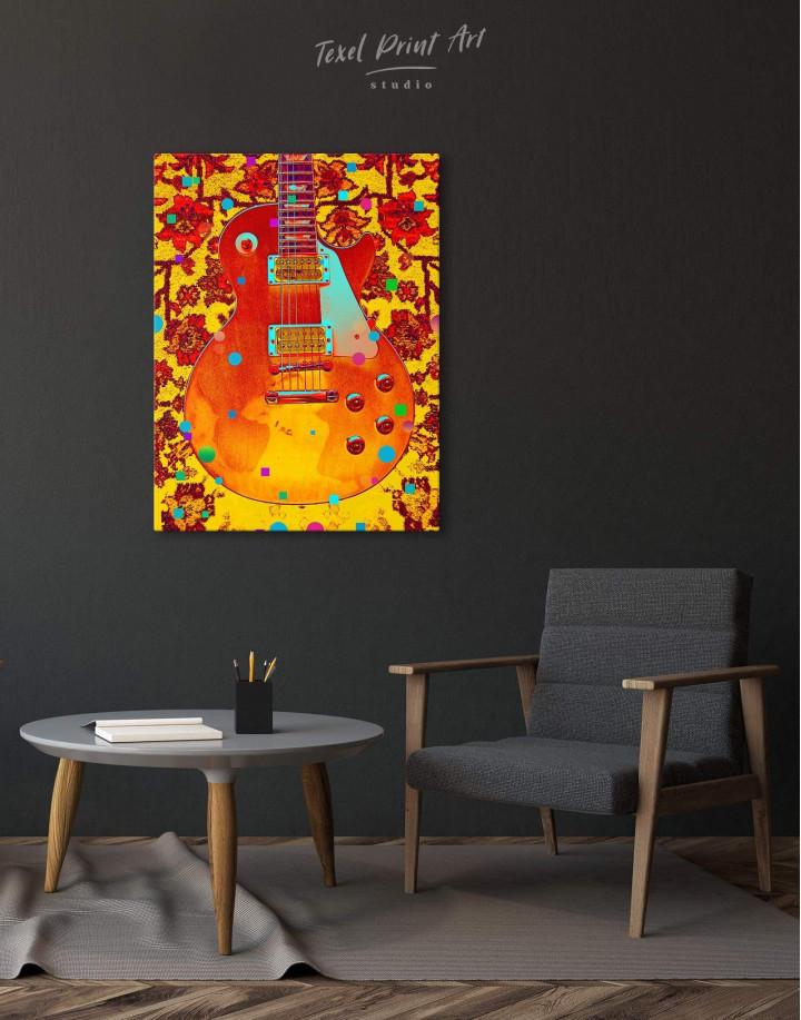 Music Guitar Canvas Wall Art - Image 3