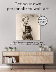 Photo Marilyn Monroe Canvas Wall Art - Image 4