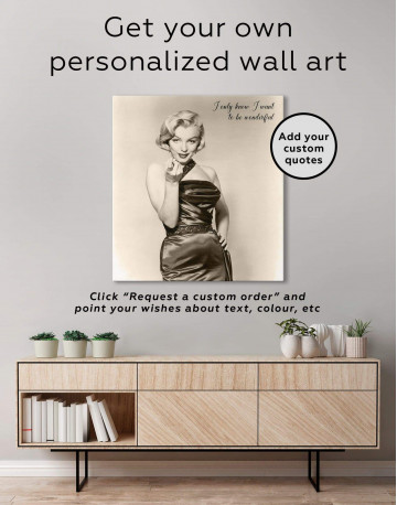 Photo Marilyn Monroe Canvas Wall Art - image 4