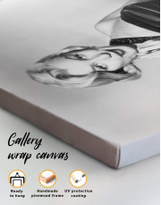 Photo Marilyn Monroe Canvas Wall Art - Image 1
