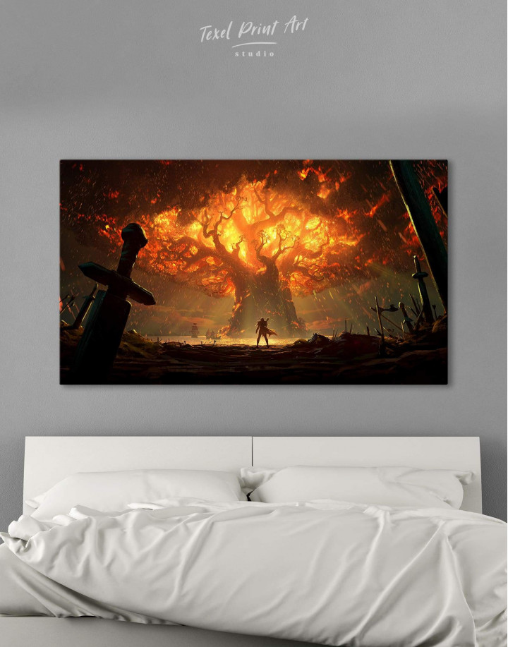 World of Warcraft Game Canvas Wall Art