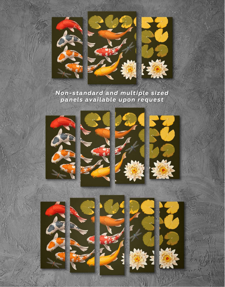 Koi Fish Canvas Wall Art - Image 2