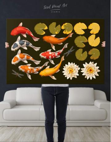 Koi Fish Canvas Wall Art - image 4