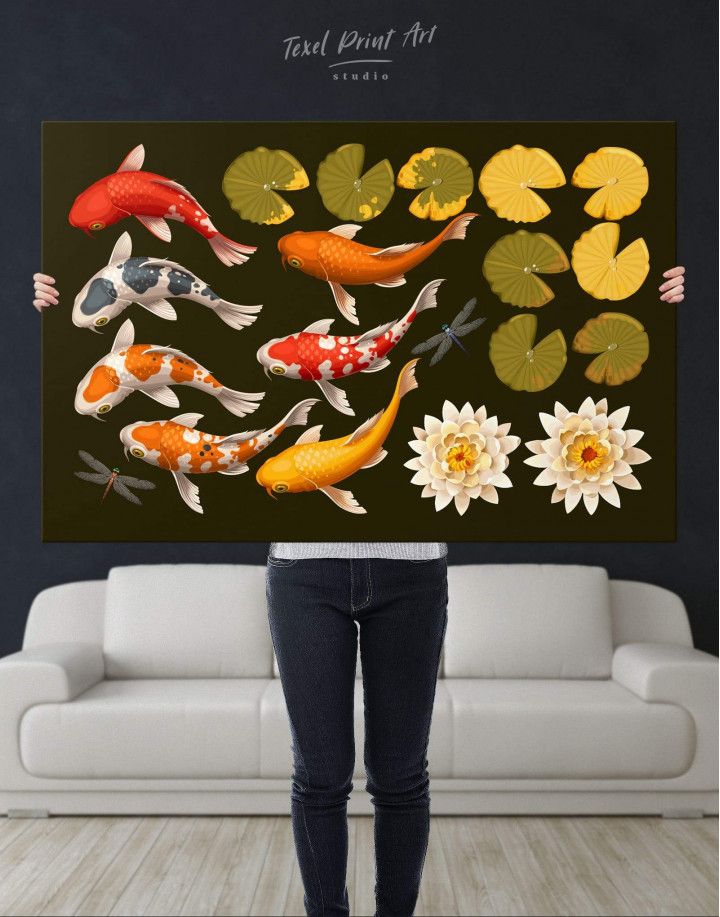 Koi Fish Canvas Wall Art - Image 4